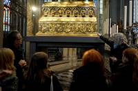 Relikwiarz Pokłonu Trzech Króli w prezbiterium katedry kolońskiej<br />Autor: Grzegorz Pachla